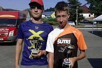 Petr Klíma (vlevo) byl třetí a Jiří Srch druhý mezi juniory.