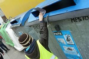 Prachatice mají 74 míst s kontejnery na tříděný odpad, ve kterých je rozmístěno 351 ks nádob. Ilustrační foto.