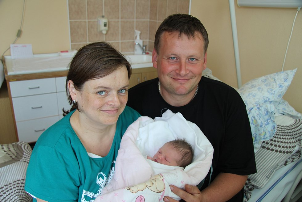 Z prvního miminka se radují manželé Miroslava a Lukáš Dubovských z Drslavic. Michaela Dubovská se narodila v prachatické porodnici ve středu 9. května v 16 hodin a 25 minut. Vážila 3300 gramů.