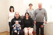 Filip Marek a jeho rodina.