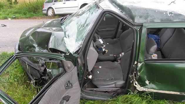 Nehoda u Strunkovic nad Blanicí si vyžádala sedm zraněných osob.