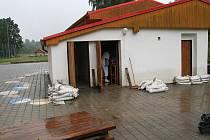 Velká voda v Dětském domově v Žíchovci.