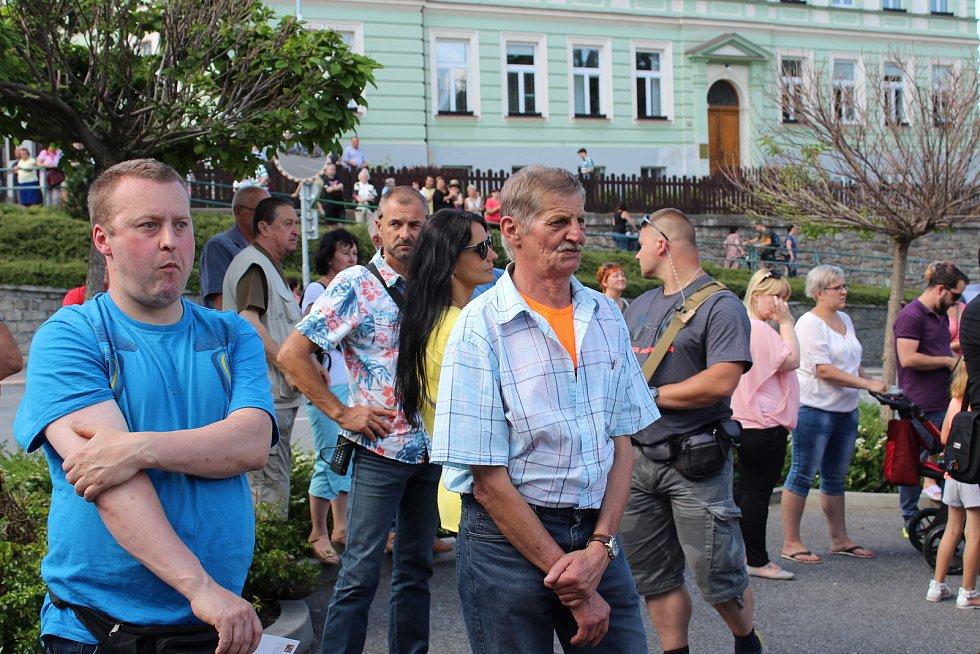 Miloš Zeman v úterý 13. června navštívil Vimperk.