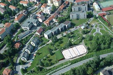 Studie možného budoucího hřiště v parku Mládí v Prachaticích.