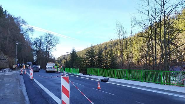 Nejpozději v pátek 18. prosince budou dokončeny práce na opravě silnice I/4 ve Vimperku při vjezdu od Strážného.