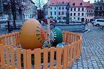 Velikonoční nálada dorazila i do centra Prachatic.
