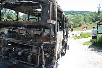 V sobotu 7, června shořel při jízdě do Pasova pod osadou Libínské Sedlo u Prachatic zájezdový autobus. Po jeho odstranění z komunikace začali hasiči s úklidem vozovky.
