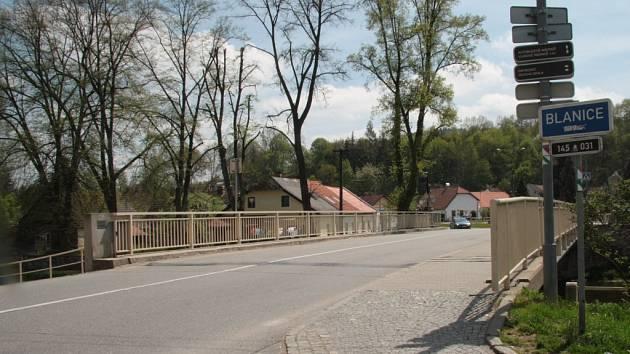 Most přes Blanici v Husinci