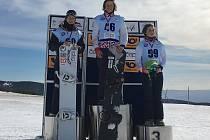 Vimperský snowboardcrossař Matouš Koudelka je juniorským mistrem České republiky.