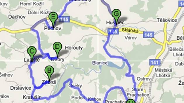 Šárka s doprovodem zhruba deseti dětí z cyklistického oddílu a knihovnicí Zuzanou Bláhovou vyjedou na zhruba třicetikilometrovou trasu ve směru Zábrdí, Lažiště, Pěčnov, Chlumany a Husinec.