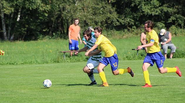 Fotbalová B třída: Prachatice B - Vacov 0:0.