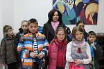 Vernisáž výstavy Zdeňka Harazima ve Volarech.