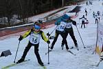 Řada dětí dělala na Vodníku své vůbec první lyžařské krůčky.