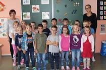 Třída 1. B v Základní škole ve Volarech