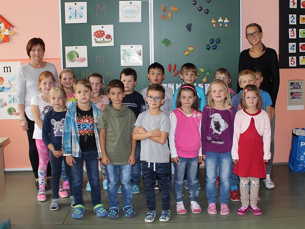 Třída 1.B vZákladní škole ve Volarech