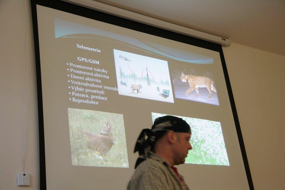 Vědci z výzkumného týmu národních parků Šumava a Bavorský les představili výsledky výzkumného projektu rysa ostrovida a srnce obecného.