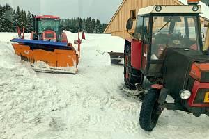 Na Kvildě připadlo zhruba třicet centimetrů nového sněhu.