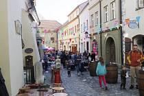Několikrát do roka je Poštovní ulice uzavřená a konají se tam akce.