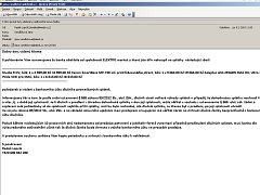 Podvodný e-mail, který přišel do redakce Deníku.