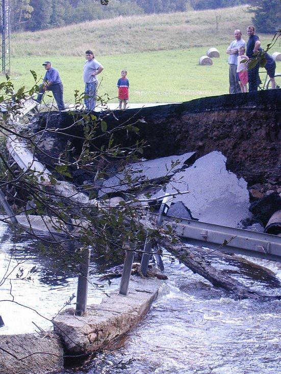 Povodně 2002 - Prachaticko - Blažejovice.