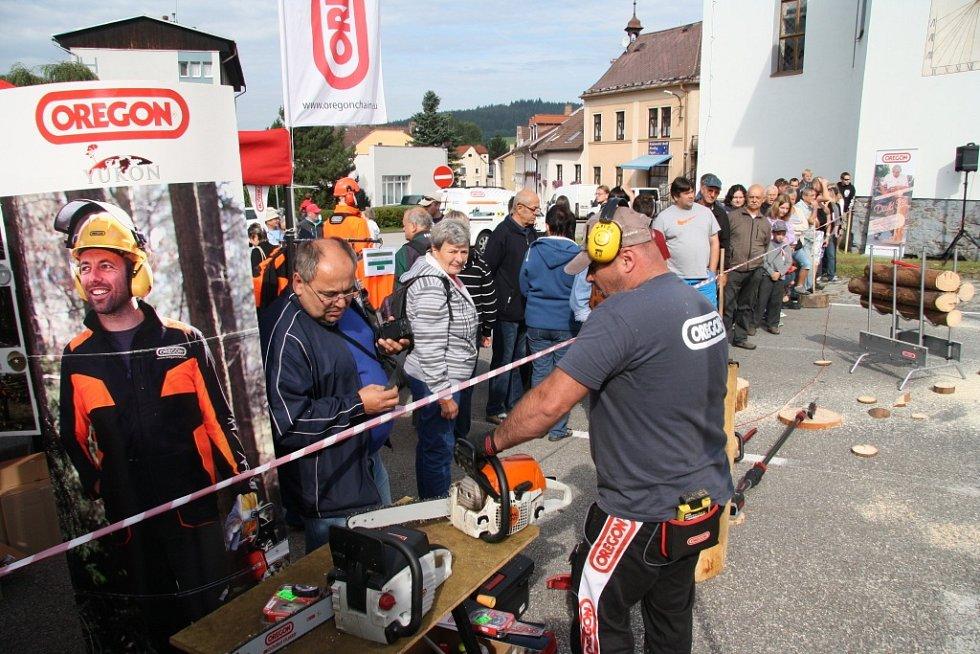 Ani letos nechyběl mezinárodní česko - rakouský souboj ve vybraných disciplínách dřevorubecké soutěže Euro Jack.