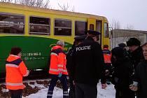 Nehoda vlaku poblíž Vodňan.
