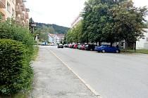 Prachatice, Ulice SNP. Ilustrační foto