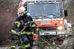 S odstraňováním následků silného větru měli plné ruce práce hasiči po celé republice.