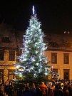 1. Vánoční strom v Prachaticích.