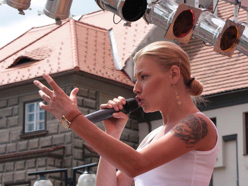 Pódium na Velkém náměstí patřilo v sobotu i Heleně Zeťové.