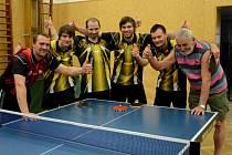 Stolní tenisté libína Prachatice postoupili do i. ligy.