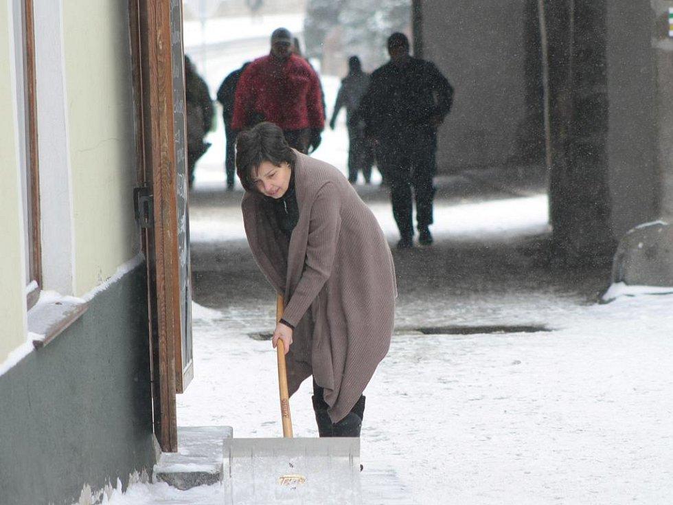 Zima v Prachaticích.