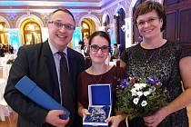 Robert Huneš, Markéta Nováková a Ladislava Veberová převzali cenu Floccus pro Domov Matky Vojtěchy.