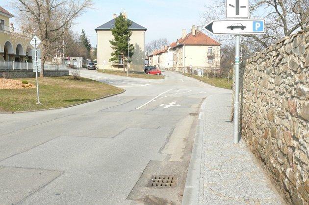 Hradební ulice v Prachaticích.