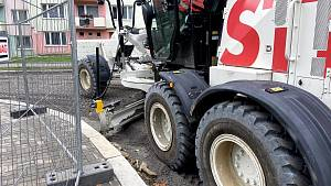 Oprava Slámovy ulice v Prachaticích