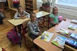 První školní den v ZŠ Strážný.