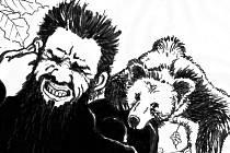 Medvěda skolil svočkem z ucha.