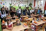 První školní den v Základní škole ve Vodňanské ulici v Prachaticích.