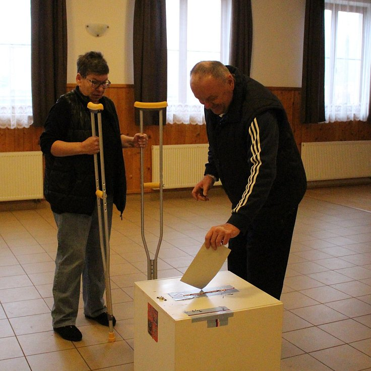 Druhé kolo prezidentských voleb ve Vitějovicích.