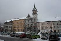 Budova Městského úřadu v Prachaticích na Velkém náměstí.