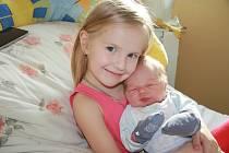 STEPAN YONYK, LIPOVICE. Narodil se ve středu 8. ledna ve 13 hodin a 9 minut v prachatické porodnici. Vážil 3760 gramů. Má sestřičku Mariyu (4 roky). Rodiče: Tetiana a Stepan.