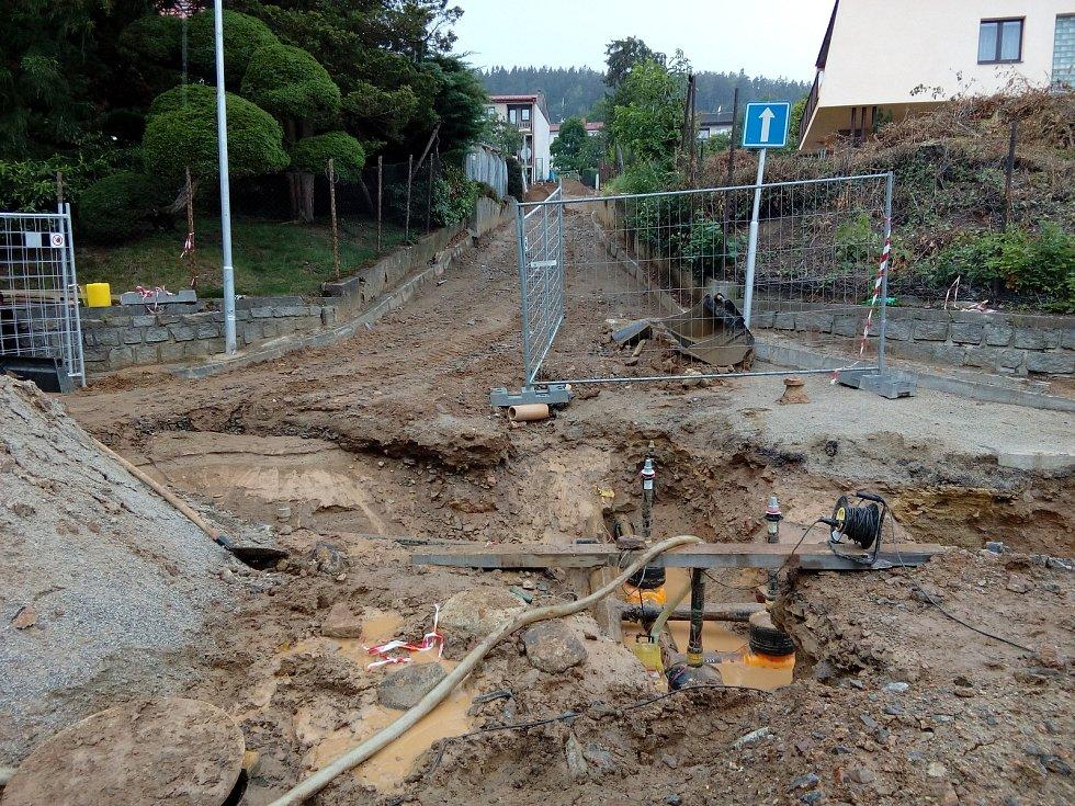 Rekonstrukce ulice Lesní v Prachaticích.