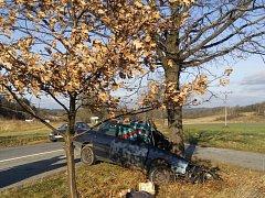 Náraz do stromu řidič osobního auta nepřežil.