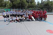 Volarští hokejbalisté vyrazili na přátelák do Prachatic.