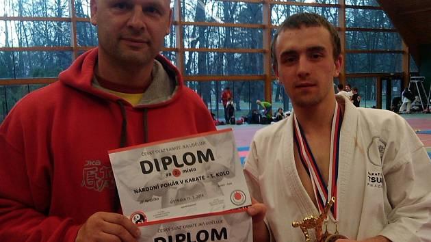 Jiří Hrdlička (s trenérem Havlíkem) přivezl z Národního poháru dvě medaile.