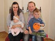 Anežka Remešová s rodinou.