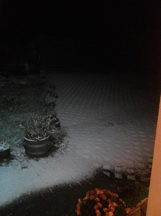 První sníh. Strunkovice nad Blanicí.