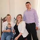 Tobias Uhlík s rodinou.