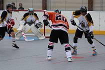 Highlanders při utkání ligy v domácím prostředí.