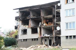 Výbuchem a požárem zničený dům v Lenoře již existuje jenom na fotkách.